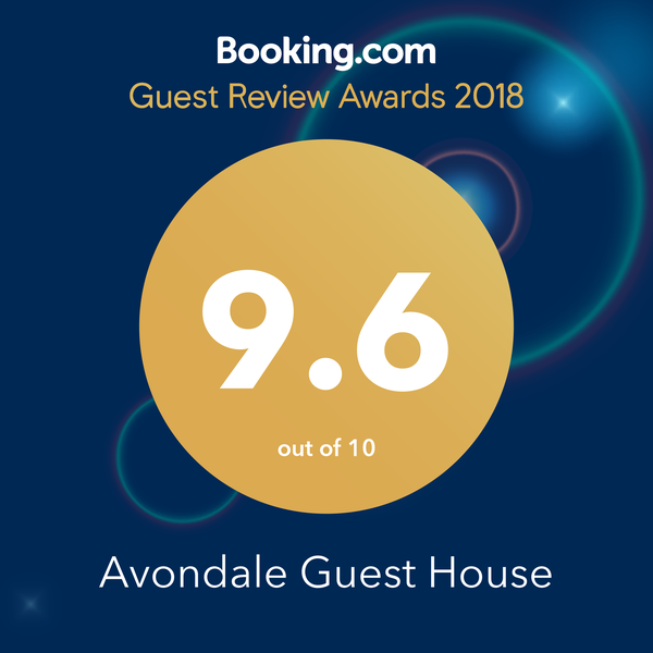 Booking dot com award for Avondale Guest House York